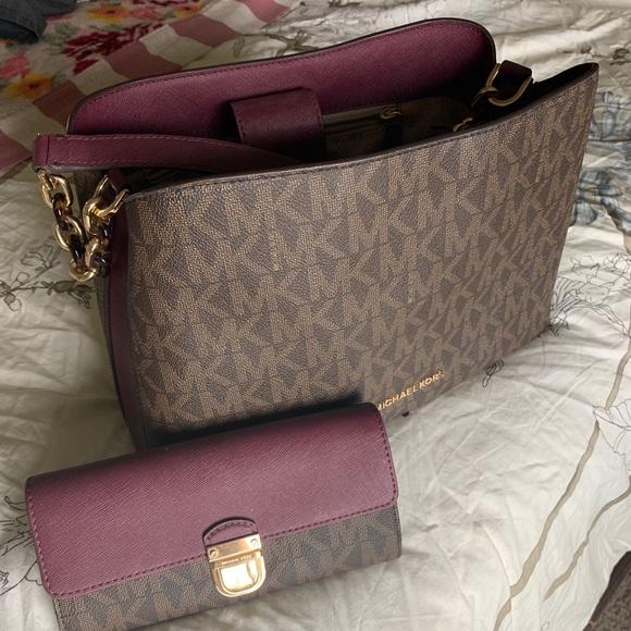 Michael Kors Handbags - Michael Kors Portia Purse with matching Wallet